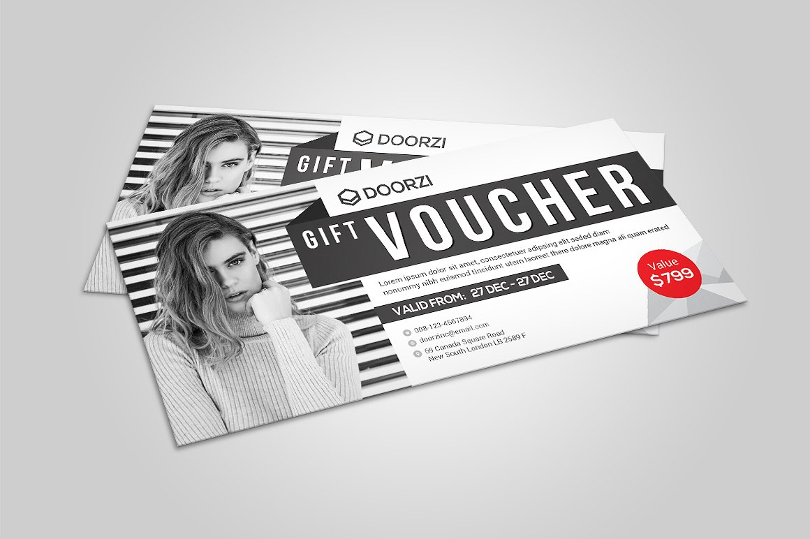gift voucher for spring example