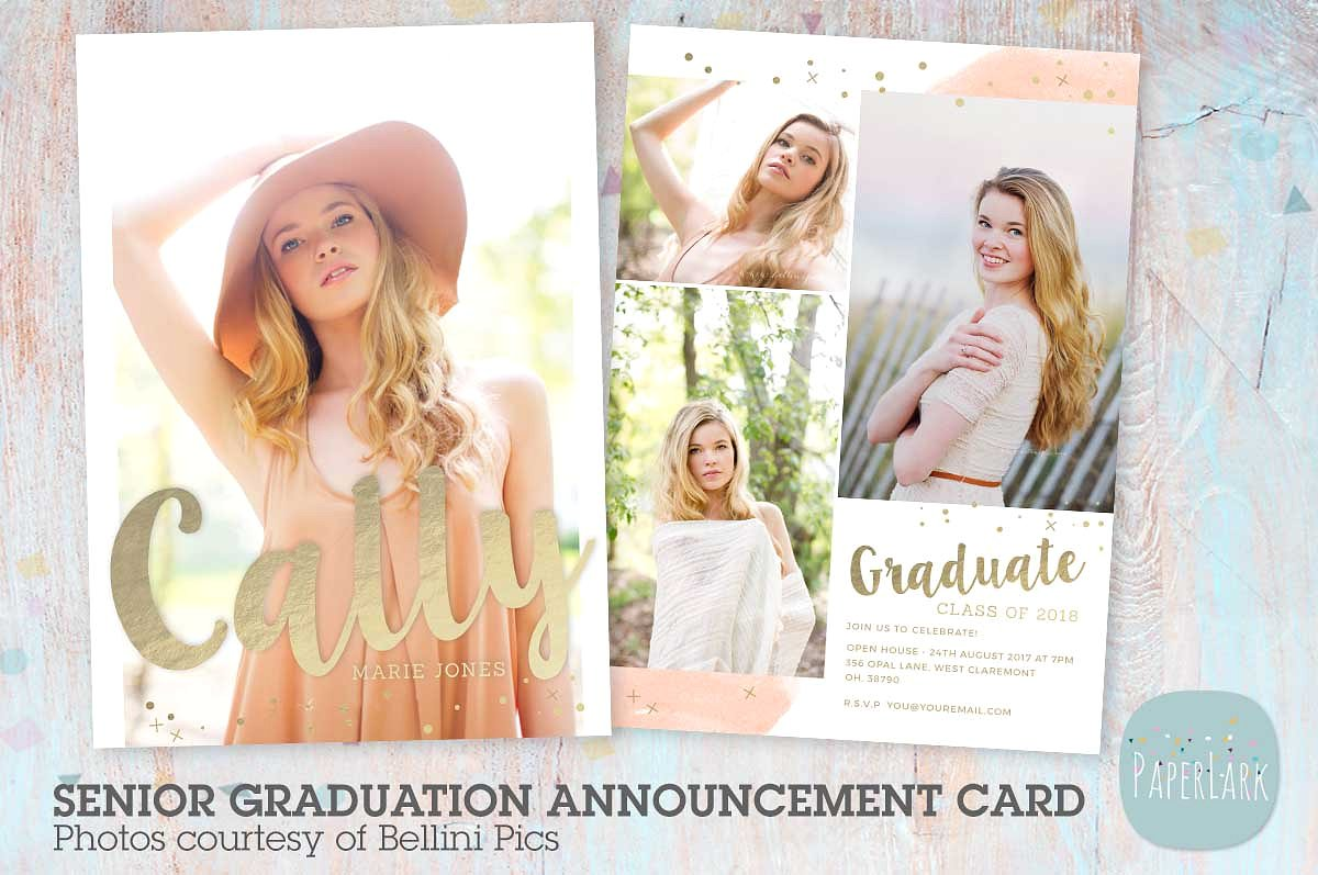 girl glitter graduation greeting card example