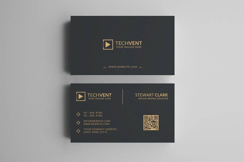 gold classic minimal business card example