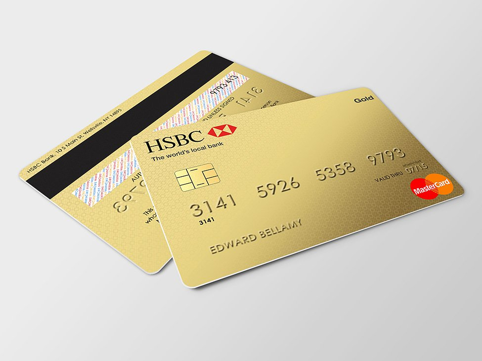 gold mockup debit card example1