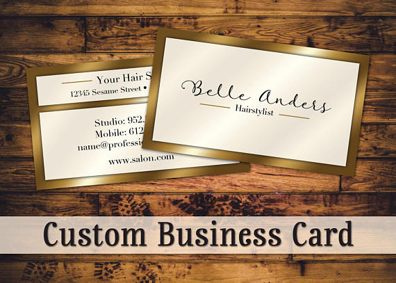 gold personal business card example