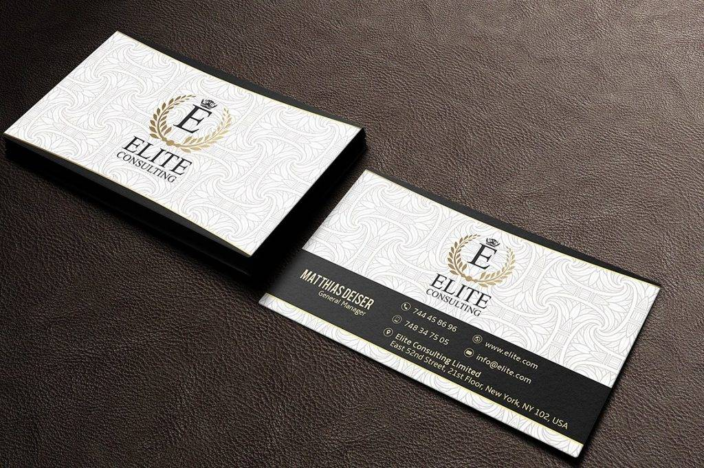 gold white luxury business card example 1024x681