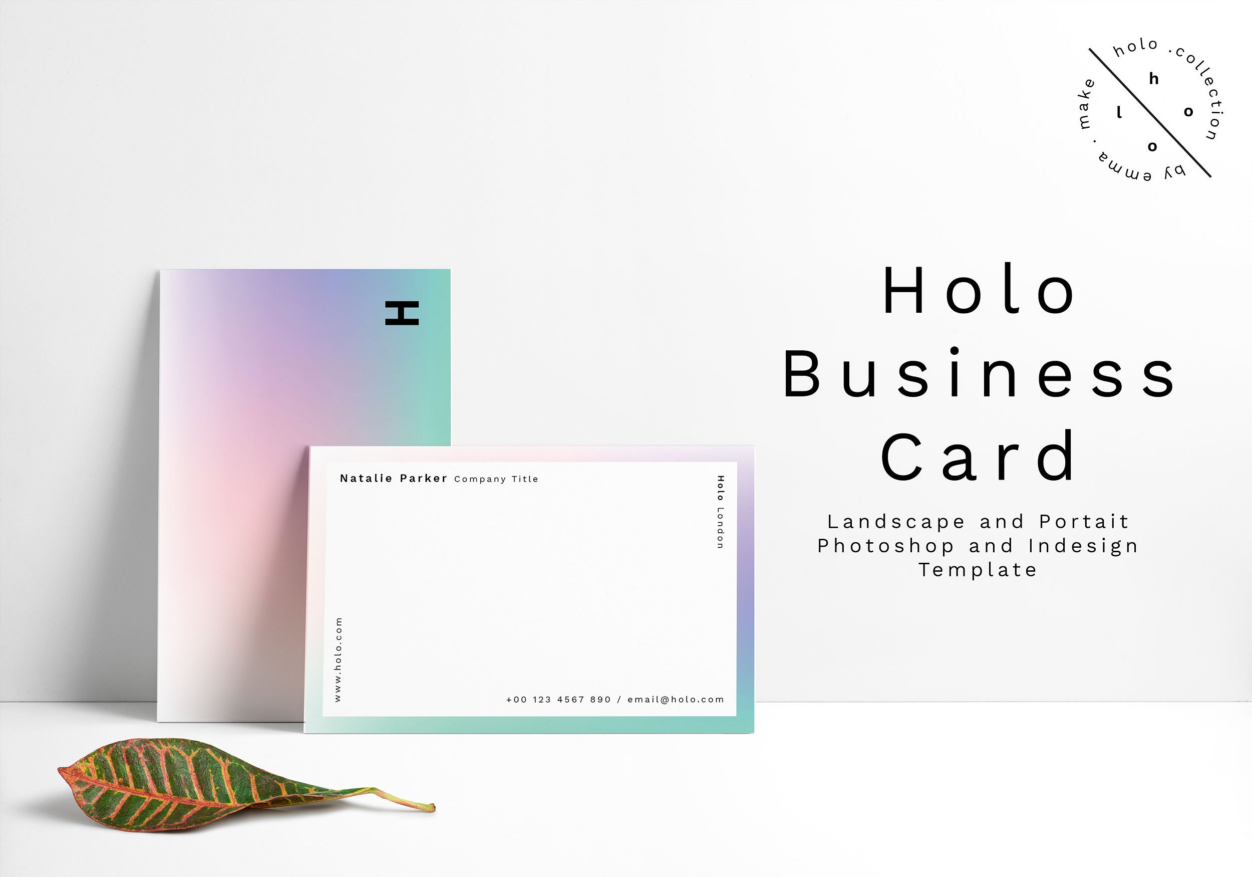 gradient minimalist business card example