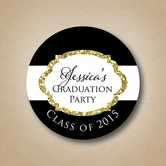graduation label example