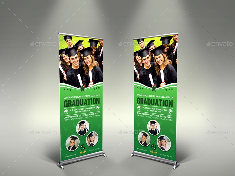graduation signage and banner template example