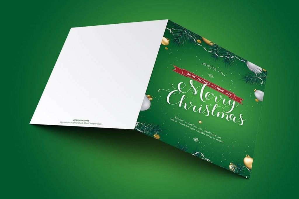 green christmas holiday greeting card example 1024x681