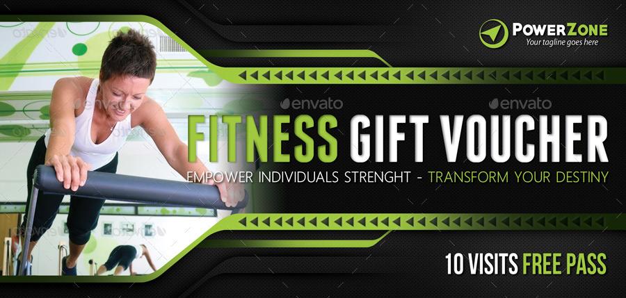 green fitness gift voucher example