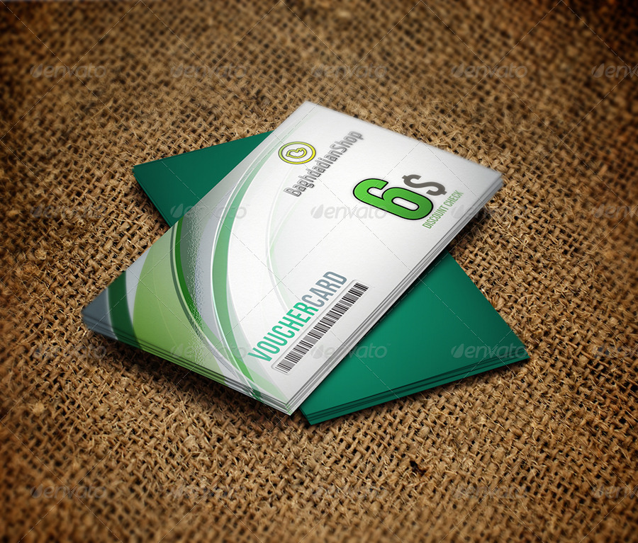 green gift voucher card example