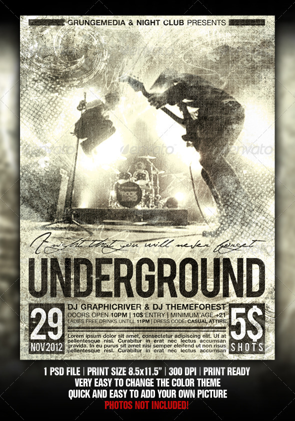 grunge concert poster example