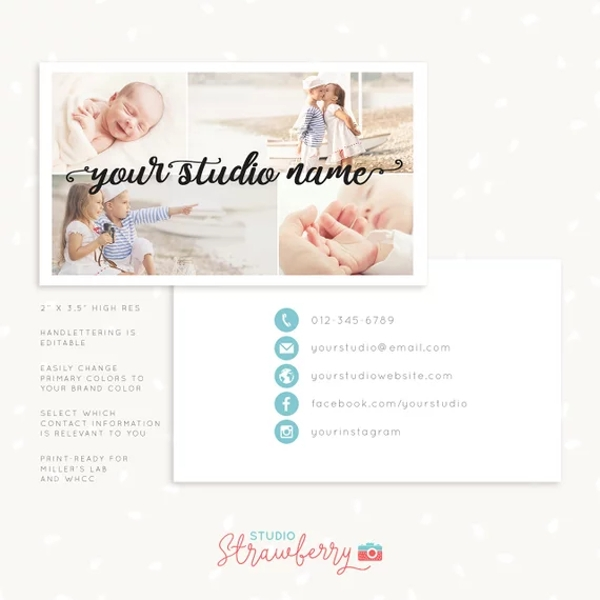 handlettering photography business card example