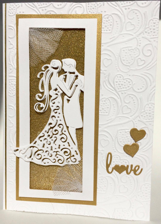 handmade 3d wedding card example