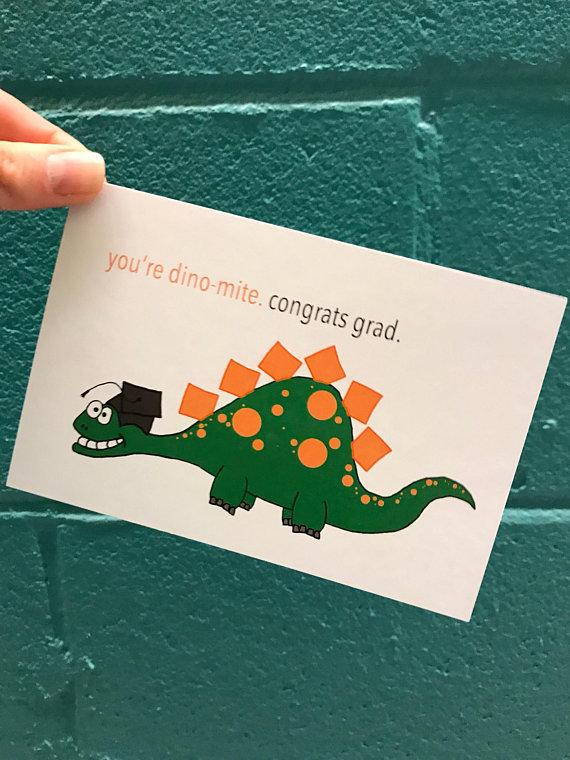 handmade graduation postcard example