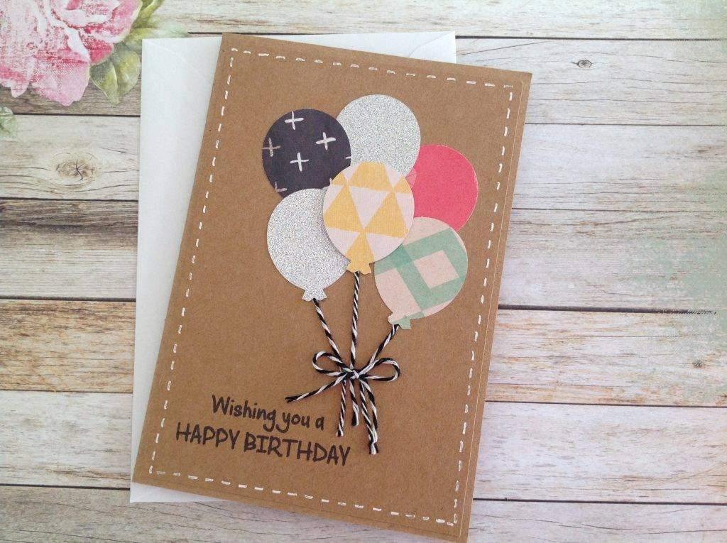 handmade kraft birthday card example