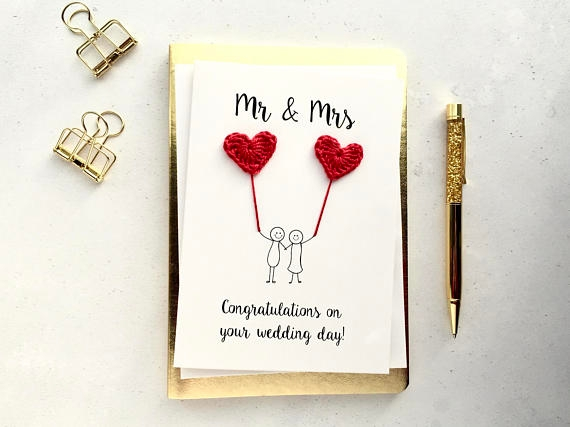 handmade wedding card example