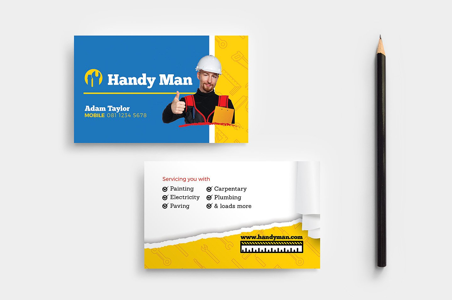 18  construction business card designs and examples