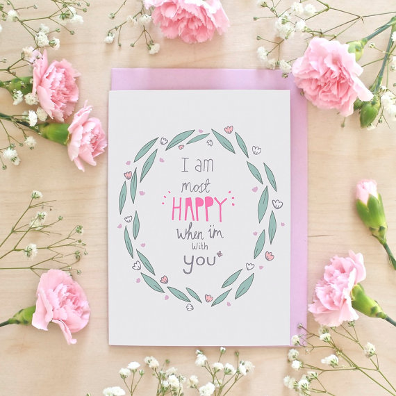 happy with you anniversary greeting card example