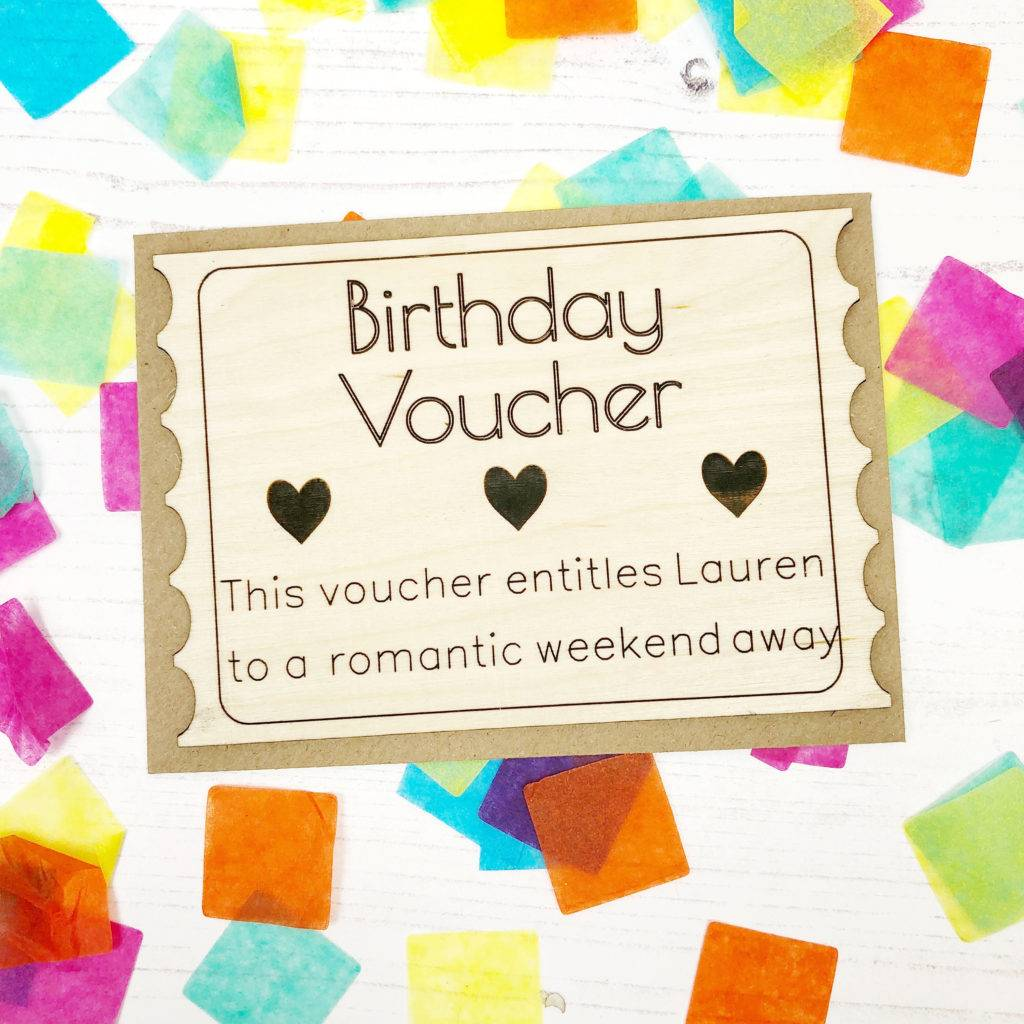 hearts birthday voucher example