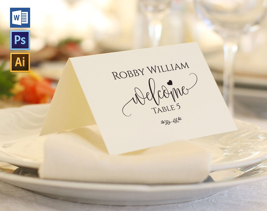 high resolution place card template