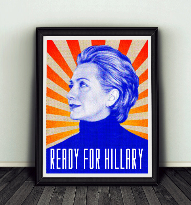 hilary clinton campaign poster example