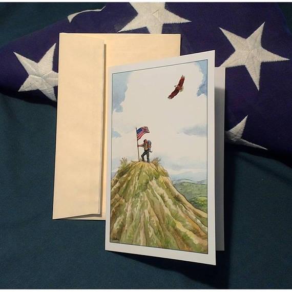 hilltop congratulations greeting card example