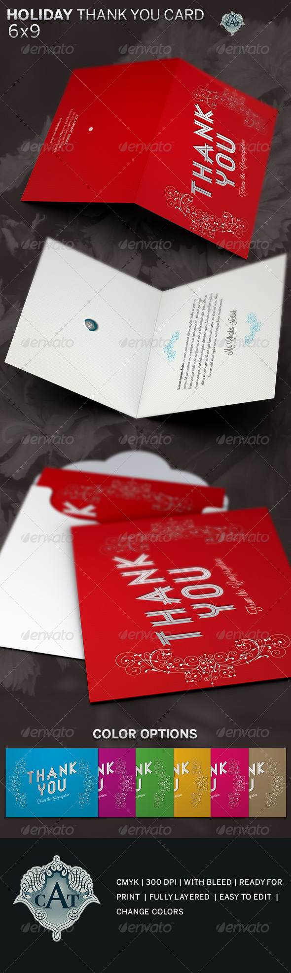 holiday thank you card template example