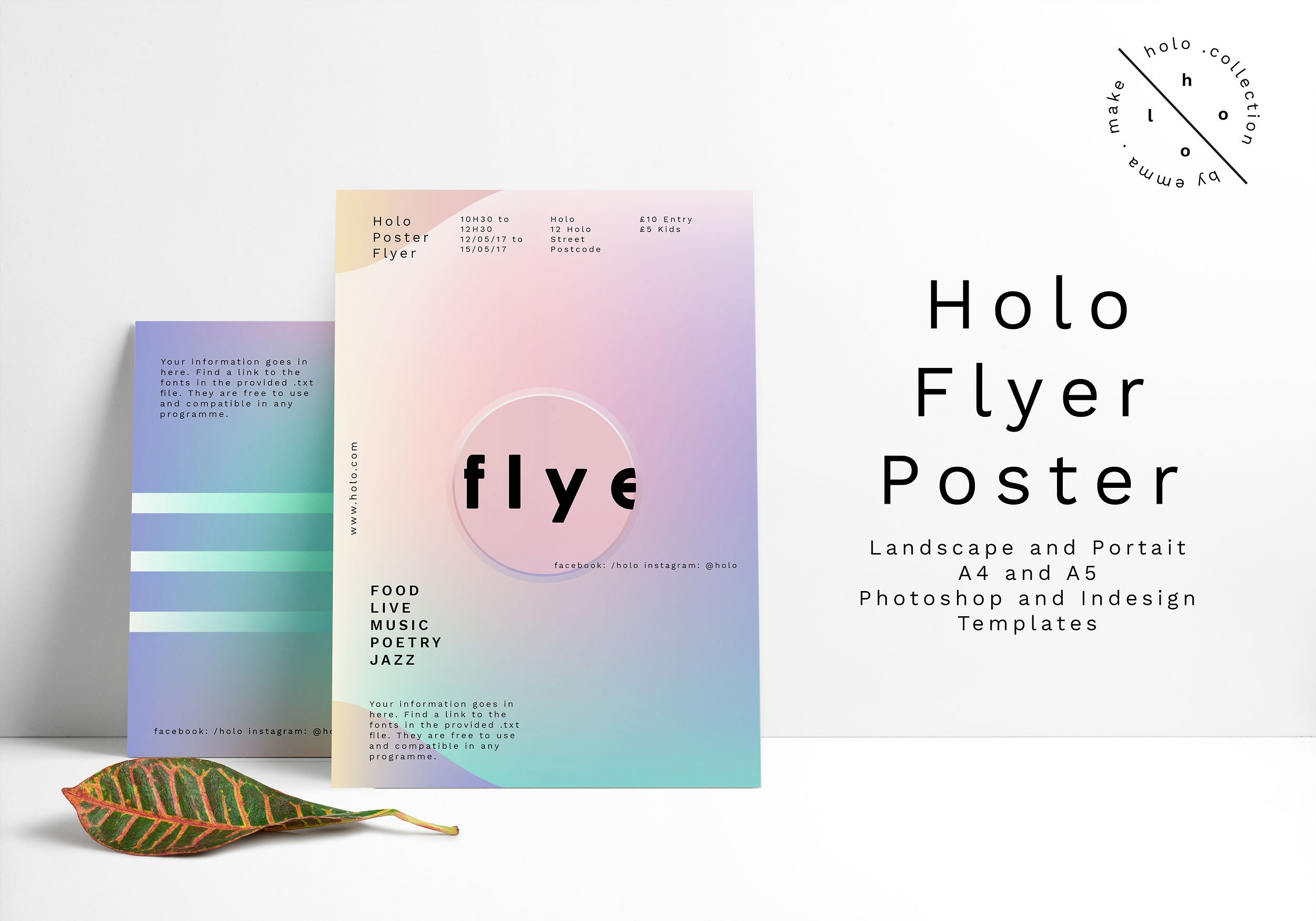 holo flyer event poster example