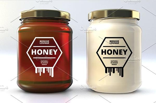 honey bottle label example