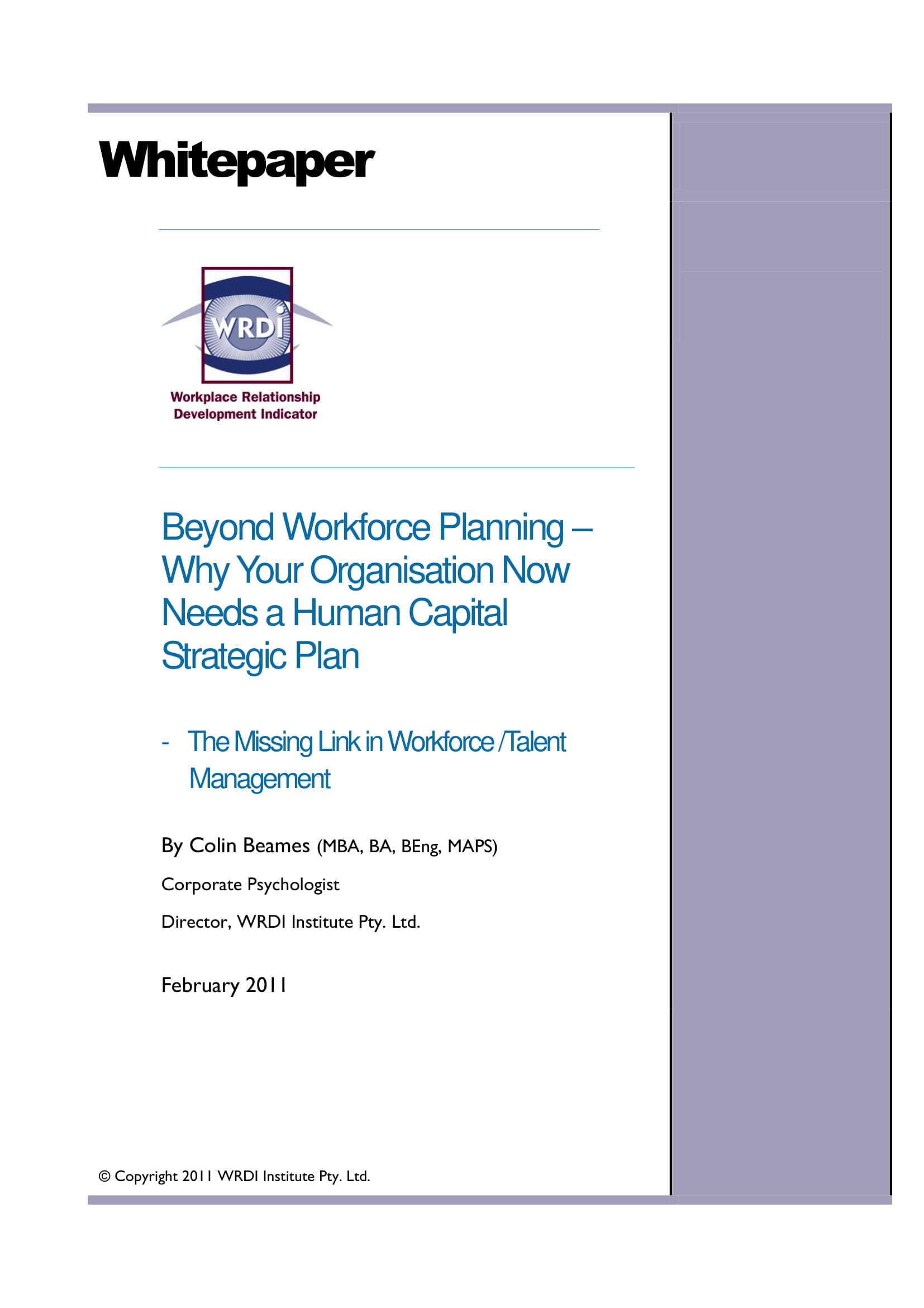 14 examples of workforce planning templates pdf for Human capital planning template