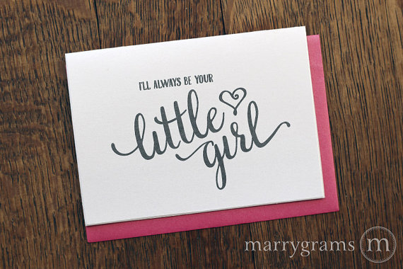 ill always be your little girl wedding card example