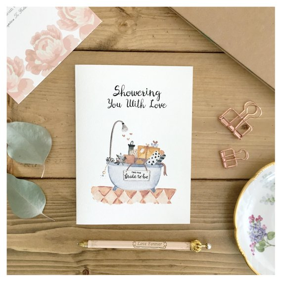 What Do You Get Your Bride For A Wedding Gift: 10+ Bridal Shower Card Designs And Examples