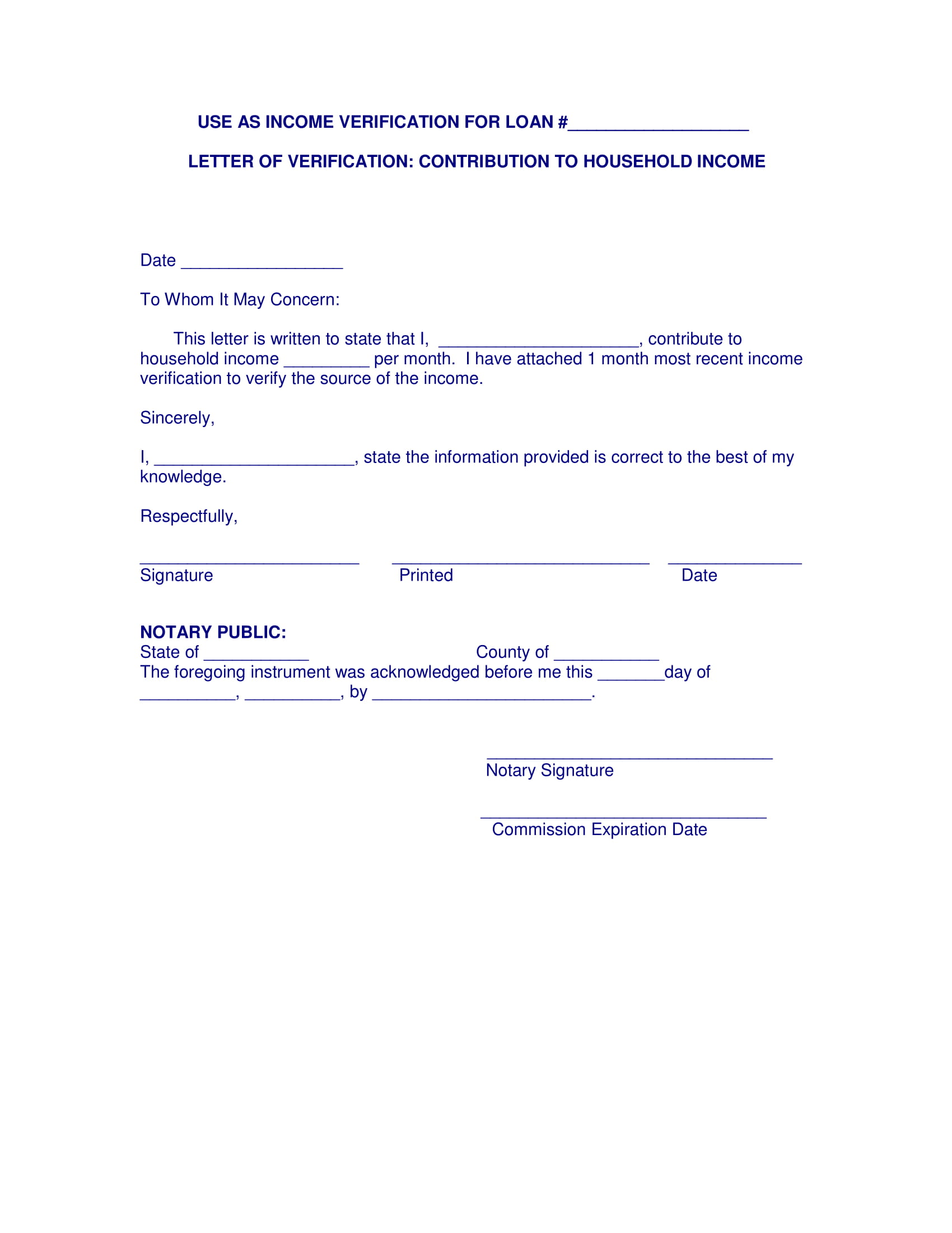 income verification letter 9 income verification letter pdf doc 9607