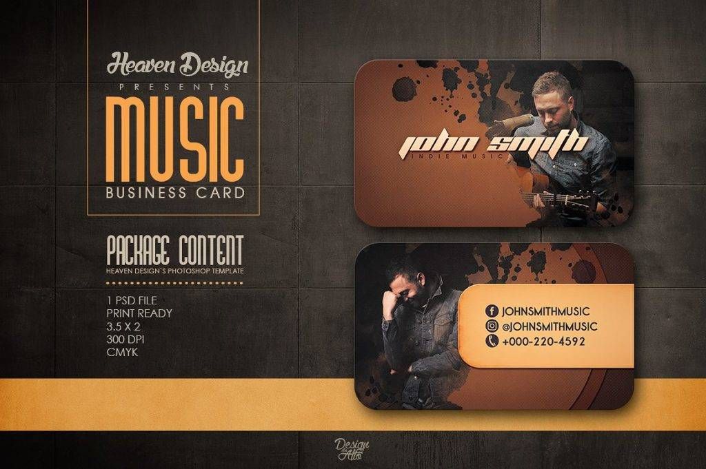 indie music dj business card