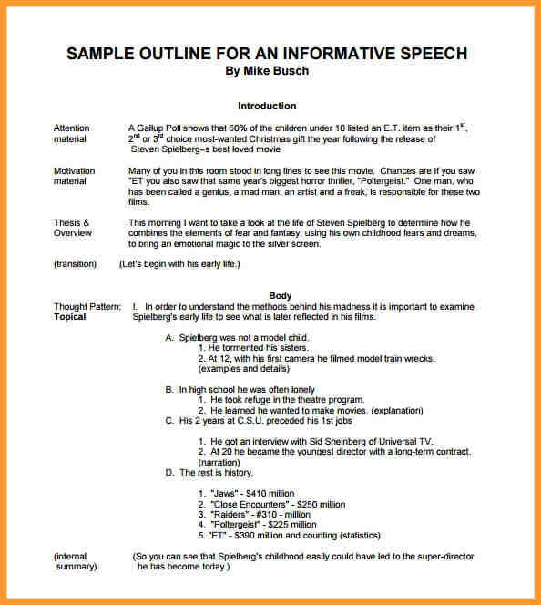 informative speech for students example