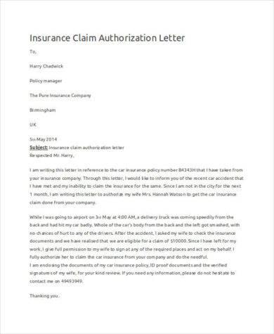 insurance claim authorization