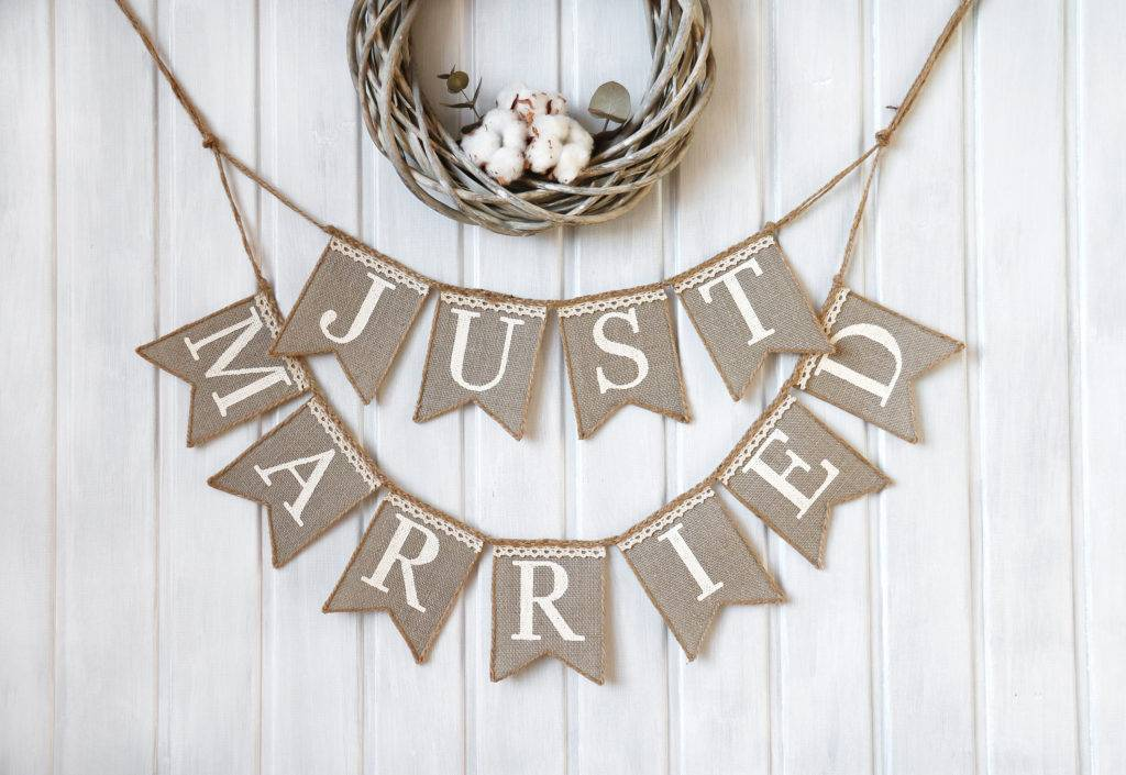 just married wedding banner example 1024x705