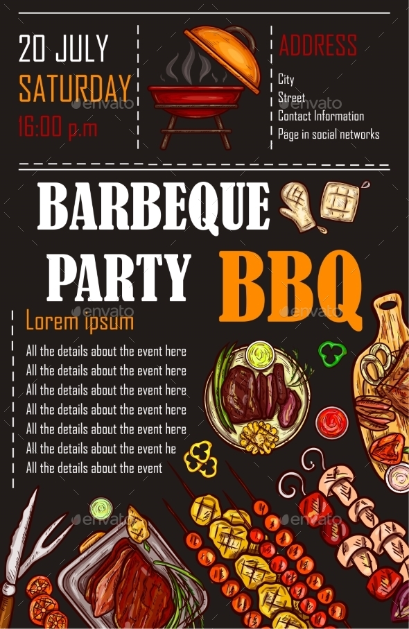 kebab barbeque party menu example
