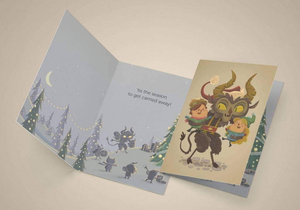 krampus holiday card example 1024x717