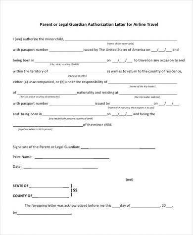 legal guardian authorization