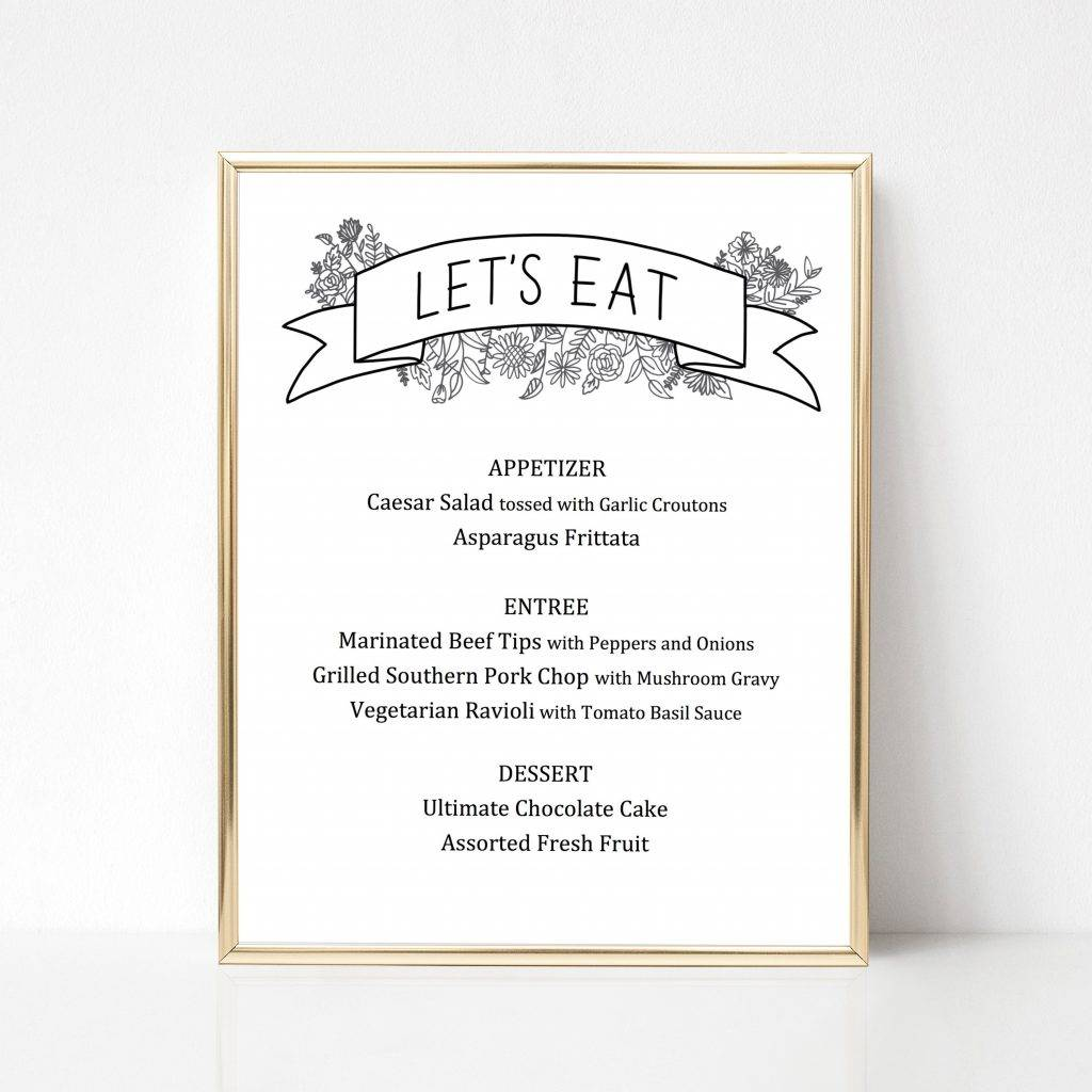 lets eat banner buffet menu design