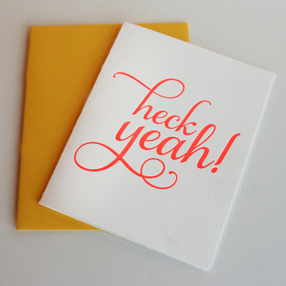 letterpress congratulations greeting card example