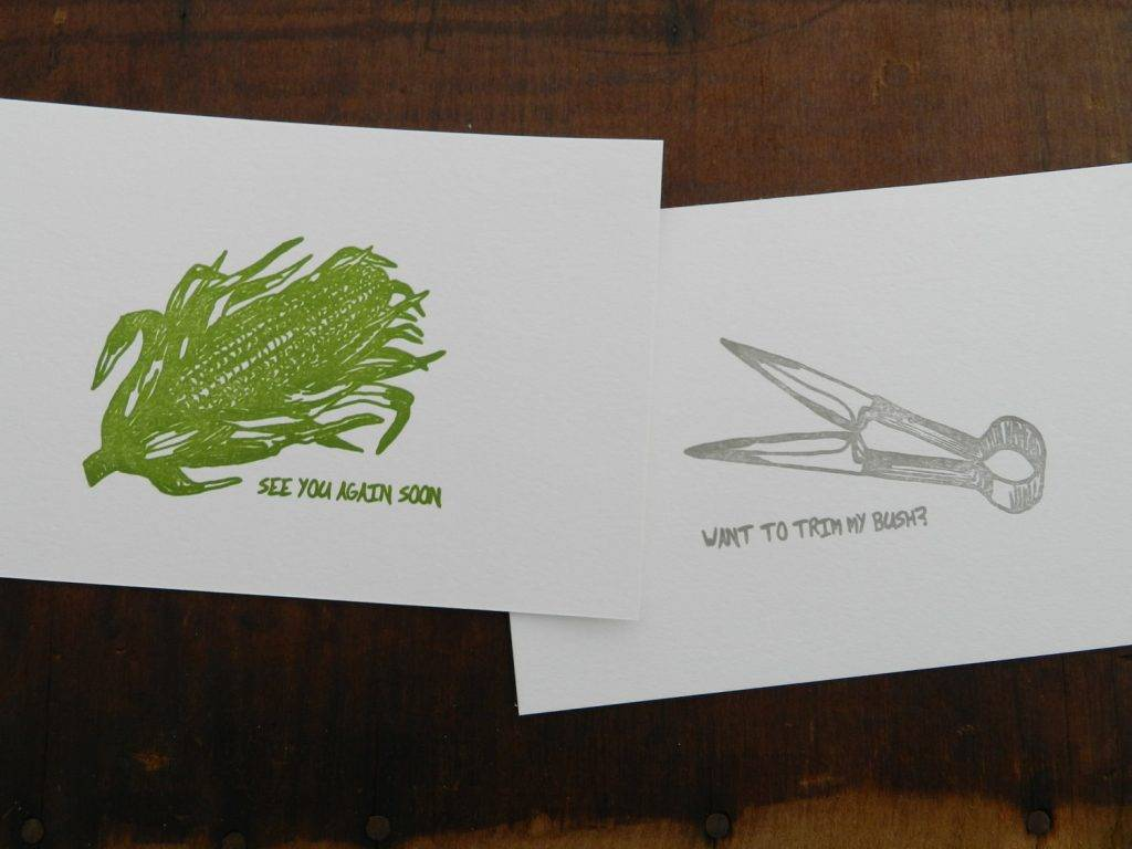 letterpress funny postcard example