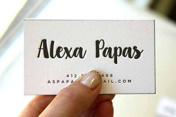 letterpress visiting card example