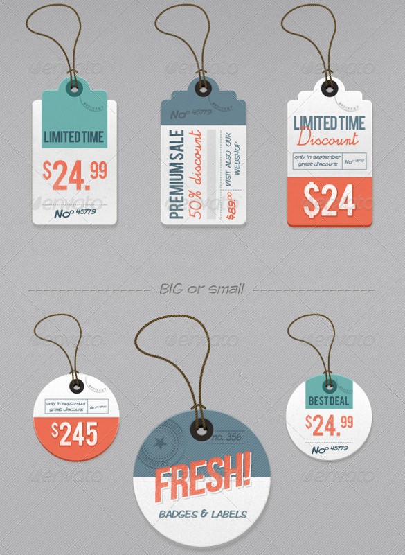 limited time retro price tag examples