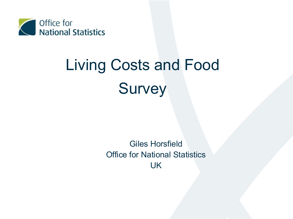 living costs and food survey example