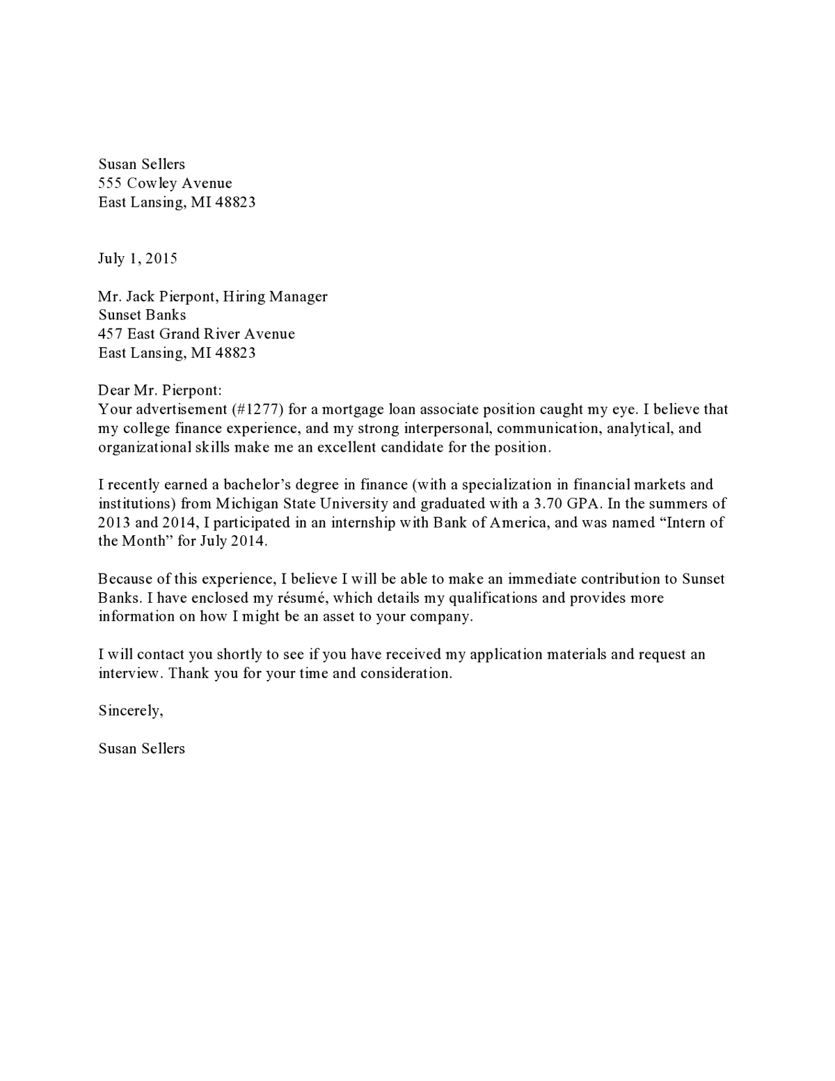 exemple of cover letter - 10 resume cover letter examples pdf