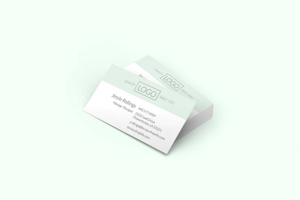 logo personalized business card example