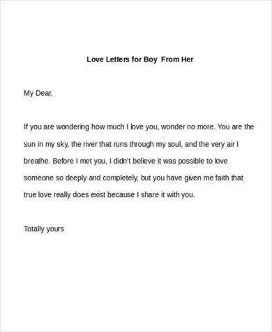 love letter for boy