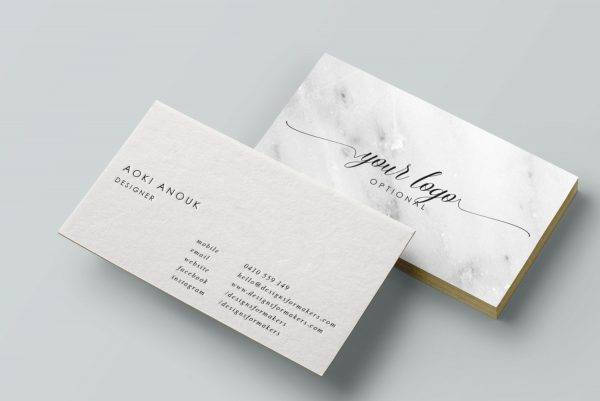 luxe chic business card example