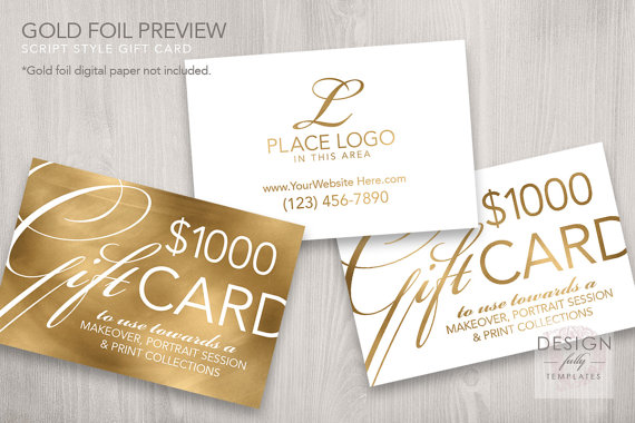 luxurious bridal gift card example