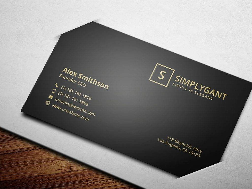 10 luxury business card examples in psd luxurious gold business card example reheart Images